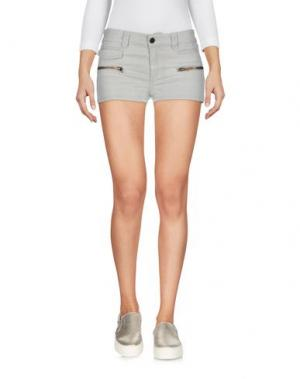 Джинсовые шорты SUPERFINE. Цвет: светло-серый