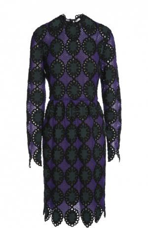 Платье Erdem. Цвет: фиолетовый