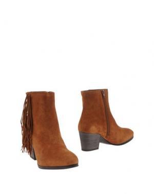 Полусапоги и высокие ботинки UNISA. Цвет: верблюжий
