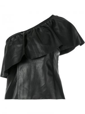 Топ на одно плечо A.L.C.. Цвет: чёрный