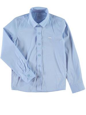 Рубашка NAME IT. Цвет: голубой