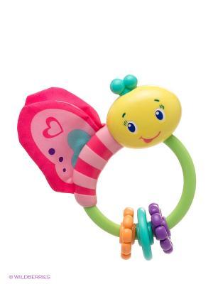Развивающая игрушка-погремушка Бабочка BRIGHT STARTS. Цвет: розовый, желтый, зеленый