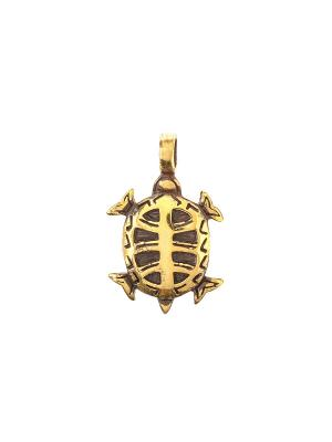 Амулет защитный Каме-Черепаха Aztek. Цвет: желтый