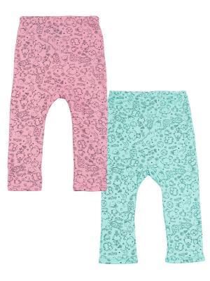 Ползунки, 2 шт. Апрель. Цвет: розовый, серо-зеленый