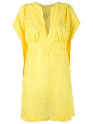 Textured beach dress Blue Man. Цвет: жёлтый и оранжевый