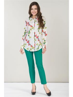 Блузка ANTIGA. Цвет: зеленый