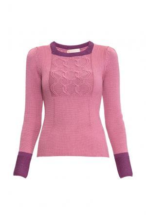 Джемпер из шерсти с шелком 154533 Sweet Sweaters. Цвет: розовый