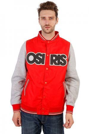 Бомбер  Jacket Sheffield Red Osiris. Цвет: красный,серый