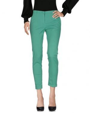 Повседневные брюки FUNNY FACE. Цвет: зеленый