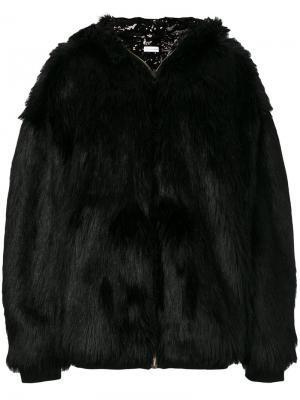 Свободная куртка-бомбер Faith Connexion. Цвет: чёрный