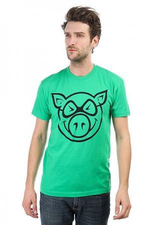 Футболка  Basic Green Pig. Цвет: зеленый