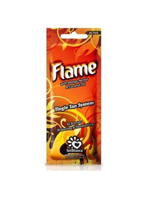Крем для загара в солярии  Flame с нектаром манго, бронзаторами и Tingle эффектом. Solbianca. Цвет: бежевый