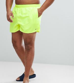 Nike Желтые короткие шорты для плавания Plus Volley NESS8830-737. Цвет: желтый
