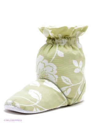 Тапочки-грелки Meadow Aroma Home. Цвет: светло-зеленый, белый