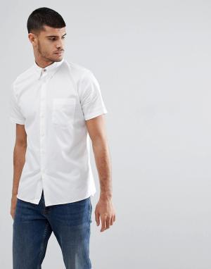 PS Paul Smith Белая рубашка с коротким рукавом и карманом. Цвет: белый