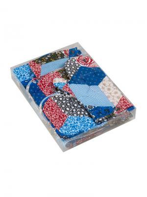 Набор текстиля для кухни:4 полотенца, 2 прихватки, рукавичка, текстильная ваза Традиция. Цвет: темно-синий, бежевый, белый, малиновый