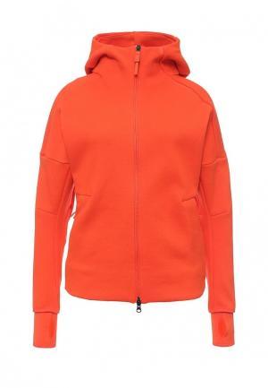 Толстовка adidas Performance. Цвет: оранжевый