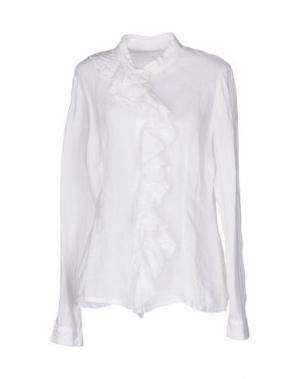 Pубашка 120% LINO. Цвет: белый