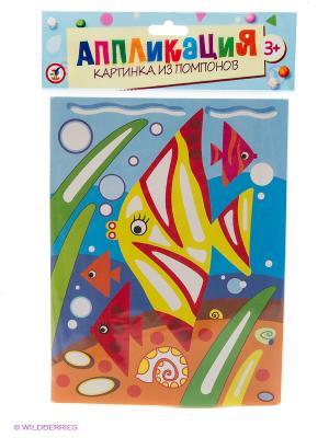 Набор для творчества Картинка из помпонов. Коралловые рыбки Дрофа-Медиа. Цвет: синий