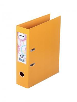 Папка-регистратор Spring двусторонняя с карманом Berlingo. Цвет: оранжевый