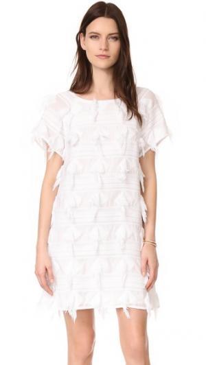Платье Fluff AYR. Цвет: белый