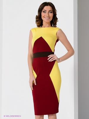 Платье Olga Skazkina. Цвет: бордовый, желтый