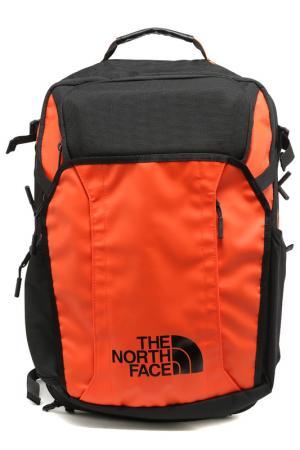 Рюкзак THE NORTH FACE. Цвет: черный, оранжевый