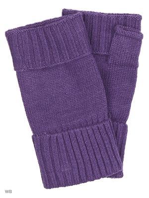 Митенки Pur. Цвет: фиолетовый