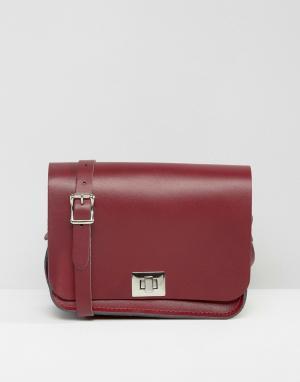 Leather Satchel Company Сумка через плечо. Цвет: красный