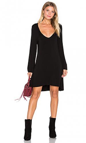 Платье с вырезом v jeb Michael Lauren. Цвет: черный