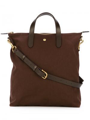 Top zip shopping bag Mismo. Цвет: коричневый