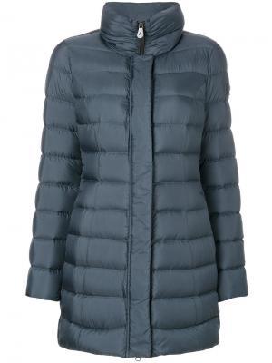 Пуховое пальто Peuterey. Цвет: синий