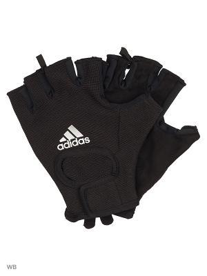 Перчатки CLITE VERS GLOV  BLACK/BLACK/MSILVE Adidas. Цвет: черный, белый