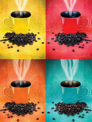 Art Холст Кофейная фантазия 30х40 см DECORETTO. Цвет: желтый, черный, красный
