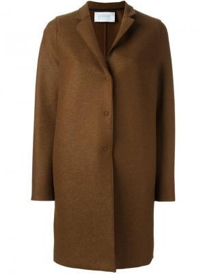 Пальто на кнопках Harris Wharf London. Цвет: коричневый