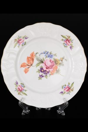Набор тарелок 19 см Bohemia. Цвет: белый, розовый, золотой