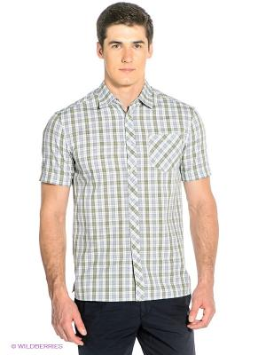 Рубашка Finn Flare. Цвет: голубой, белый, зеленый