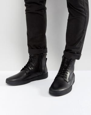 Zign Кожаные ботинки. Цвет: черный