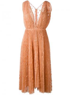 Платье Eudora Maria Lucia Hohan. Цвет: розовый и фиолетовый