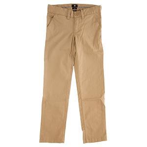 Штаны узкие детские DC Wrk Slm Chno Khaki Shoes. Цвет: бежевый