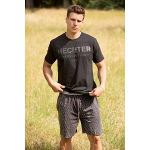 Пижама с шортами и принтом DANIEL HECHTER LINGERIE. Цвет: черный