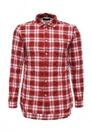 Рубашка Diesel. Цвет: красный