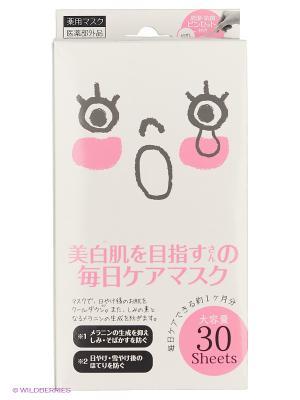 Курс масок для лица против пигментных пятен 30 шт Japan Gals. Цвет: прозрачный