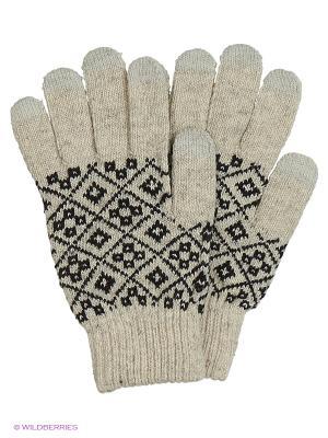 Перчатки для сенсорных экранов TERRITORY. Цвет: бежевый