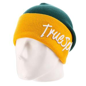 Шапка True Spin Stay 2 Tone Green/Yellow TrueSpin. Цвет: желтый,зеленый