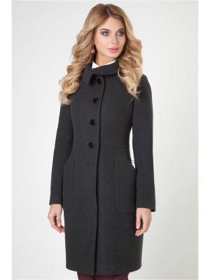 Пальто Electrastyle. Цвет: темно-серый