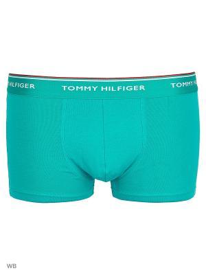 Трусы, 3 шт. Tommy Hilfiger. Цвет: бирюзовый, голубой