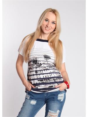 Блуза Мамуля красотуля. Цвет: синий, белый