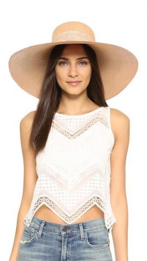 Шляпа Playa Artesano. Цвет: коралловый/кремовый