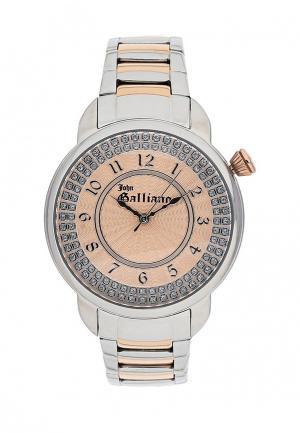 Часы Galliano. Цвет: серебряный